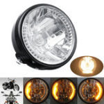 Оригинал 7inch мотоцикл Headlight Amber LED Сигнал поворота поворота для Harley Cafe Racer