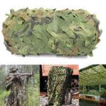 Оригинал 4mX6m Jungle Camo Netting Camouflage Net для Авто Обложка Кемпинг Woodland Военный Охота