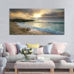 Оригинал ПляжныйХолстПечатьOceanWaveSunset Sea No Frame Картины Art Wall Home Decor