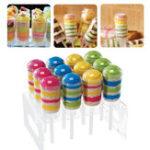 """Оригинал Очистить7.8""""Акриловые12HolesCup Cake Push Pop Stand Lollipop Cake Дисплей Holder"""
