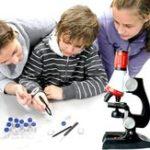Оригинал Микроскоп 100X 400X 1200X Zoom Биологические Научные инструменты Образовательные Дети ScienceToy