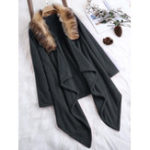 Оригинал Plus Размер Женское Loose Faux Fur Asymmetrical Cardigans Coat