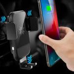 Оригинал ROCKGravityAutoЗамок10W7.5W 5W Qi Беспроводное быстрое зарядное устройство Авто Держатель для iPhone XS XR 8 S9 Примечание 9