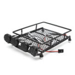 Оригинал 1/10 Крыша Багаж Rack Carrier Светодиодный Бар 513B для Wrangler Tamiya SCX10 CC01 Rc Автозапчасти