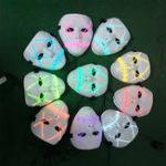 Оригинал Батарея Powered Halloween LED Праздничный свет Маска Страшный улыбающийся лицо Rave Cosplay с контроллером