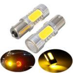 Оригинал 2Pcs 1156 BAU15S PY21W 7.5W LED COB Авто Выключатель сигнальной лампы подсветки ламп Лампа Amber 12V