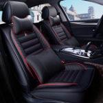 Оригинал КожаАвтоПолныйкомплектпереднегосиденья с внутренним освещением Комплект подушки Protector Universal для пяти мест Авто