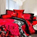 Оригинал 3DRoseFlowerQueenРазмерПостельные принадлежности 2 Подушка Одеяло Одеяло Комплект постельных принадлежностей
