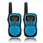 Оригинал 2шт HK-588 0.5W UHF Auto Multi-Channels Мини Radio Walkie Talkie Встроенный фонарик Blue