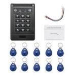 Оригинал Электронный RFID Пульт управления дверью двери двери Клавиатура Пароль Код Замок Главная Безопасность Набор С 10 ID Keyfob