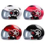 Оригинал мотоцикл Шлем Скутер Велосипед Открытое лицо Половина Бейсболки Anti-UV Safety Hard Шапка