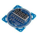 Оригинал DS1302 Вращение LED Дисплей DIY Creative Electronic Alarm Часы Температура Дисплей Питание от порта USB 5V