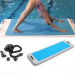 Оригинал 2×0.62×0.1mAirtrackFloatingYogaMatGymnastics Pad На открытом воздухе Водные виды спорта Air Track Mat Training Sports Protector