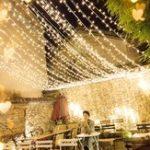 Оригинал 4M * 0.6M Водонепроницаемы Теплый белый 96 LED Свет для занавесов для Рождества Свадебное Праздничный декор AC220V