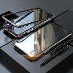 Оригинал BakeeyЗащитныйЧехолдляiPhoneXS Макс магнитный адсорбционный металл + прозрачная закаленная стеклянная крышка