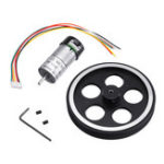 Оригинал 95 мм / 65 мм алюминиевый сплав Frame Wheel + 12v DC Мотор с кабелем DIY Набор для Smart Chasssis Авто Часть