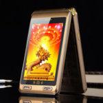 Оригинал TKEXUNG10+FlipАналоговоеТВ 6500mAh 4.0 дюймов Двойной сенсорный экран Двойной фонарик Dual SIM Feature Phone