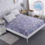 Оригинал ПолиэфирныйматрасProtectorРозовыйКрышкадля кровати Фламинго Воздухопроницаемая и стираемая машиной обложка для кроватей