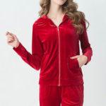 Оригинал Длинные рукава с Шапка Homewear Soft Наборы для пижамы