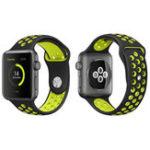 Оригинал KALOAD38/42mmШиринаСиликоновый iWatch Запасной ремень Стандарты Breathable Ремень Для Apple Watch 1/2