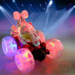 Оригинал 1/18 Перезаряжаемый Rc Stunt Авто Вращение на 360 градусов с мигающим Светодиодный Игрушка