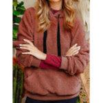 Оригинал Повседневный Женское Рубашка с длинным рукавом из флиса с длинным рукавом