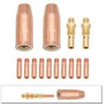 Оригинал Сварочный пистолет MIG Набор .030 дюймов Газовый наконечник Диффузор Совет для Lincoln Tweco 100L Mini Welding Torch