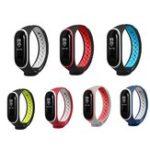 Оригинал Bakeey Двойной цвет Силиконовый Смотреть ремешок Замена Smart Watch для Xiaomi Mi Band 3