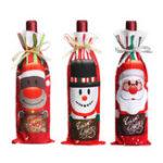 Оригинал Санта-рождественскиеконфетыСумкиВинныйчулокБутылка перевозчика Подарочные рождественские упаковки Сумка Украшение
