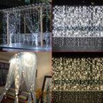 Оригинал 3M * 3M 304 LED Окно занавеса Fairy String Light Свадебное Party Home Decor US Plug AC110V