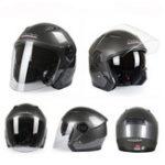 Оригинал мотоцикл Скутер с половиной открытого шлема для лица Двойной Объектив Противотуманный Ridng Защитный