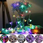 Оригинал 10M 100LED Цветочная фея String Light Водонепроницаемы Свадебное Party Christmas Holiday Decor AC220V