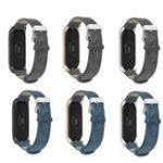 Оригинал Bakeey Металл Чехол Кожаный ремешок смотреть Стандарты Сменный ремешок для часов Xiaomi Mi band 3