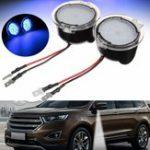 Оригинал Pair White LED Боковое зеркало с подсветкой для Ford Edge Mondeo Focus C-Max Kuga S-Max