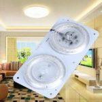 Оригинал AC220V 12W 24W LED Модуль потолочной панели с двойной цветовой температурой Источник света Пластина Магнитный Лампа
