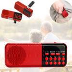 Оригинал МинипортативныйкарманныйБиблияРадиоFM спикер USB аккумуляторная TF MP3 музыкальный плеер