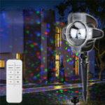 Оригинал 3W Рождественский снег RGB / белый LED Проектор Снежинки Stage Light Home Сад Decor AC220V
