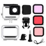Оригинал 12 в 1 40M Водонепроницаемы Защитный кожух Чехол Объектив Фильтр для GoPro Герой 7 6 5 Действие камера