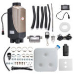 Оригинал HCalory 8KW 12V Парковка Дизель Воздух Нагреватель 4 Отверстия Отопление Воздушная парковка Нагреватель LCD Romote Cotroller