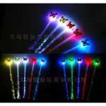 Оригинал 12pcs Новинка LED Сияющая Волосы Косы Barrette Flash LED Fiber Волосыpin Clip Light Up Headband Decorations