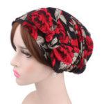 Оригинал НаоткрытомвоздухеВинтажИдиллическийцветочный платок Cap Turban Шапка Bean