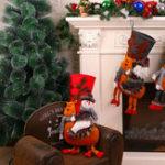Оригинал 50 см Рождественский чулок 3D Снеговик Украшение Висячий носок подарков Сумка Партия Декор