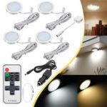 Оригинал 4pcs 12V LED Утопленный нижний шкаф Light RV Потолочный кран для прицепа Лодка Лампа