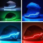 Оригинал мотоцикл Шлейф Light Strip LED Ночной сигнальный светильник Светящаяся полоса Мода Модифицированные светящиеся бары