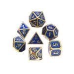 Оригинал 7Pcs Металлические многогранные кубики с множеством нагрузок Множественные кубики Античная ролевая игра Ролевые игры