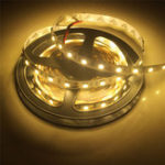 Оригинал 2PCS 5M SMD5050 Теплая белая неводная водонепроницаемая гибкая лента 300 LED Strip Light Лампа DC12V