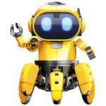 Оригинал Pro'sKit GE-893 STEAM DIY AI Smart RC Robot Infrared Evades Bonds Прогулки ABS Игрушка для роботов