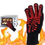Оригинал БарбекюГриль-перчатка500℃Экстремальныежаропрочные Перчатки Кулинария выпечки Перчатки Кемпинг Пикник