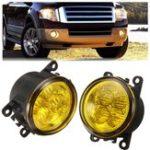 Оригинал Пара Авто Противотуманные фары Лампа с LED Шарик 12W Желтый для брод / Honda / Acura / Nissan / Suzuki
