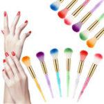 Оригинал 1Pc Золото Colorful Акрил UV Гель Ногти Art Builder Щетка